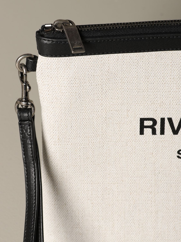 Briefcase Saint Laurent: Saint Laurent clutch in canvas and leather white 4
