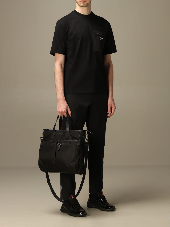 T-shirt Prada: T-shirt men Prada black 2