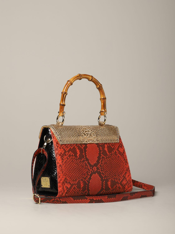 Sac porté main Tari' Rural Design: Sac Piccola Rosso Oro Tarì Rural Design en cuir de python rouge 2