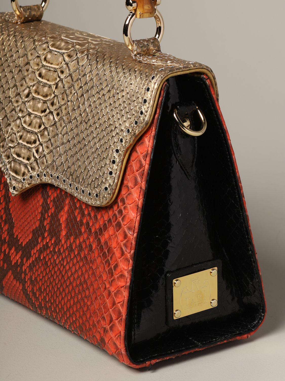 Sac porté main Tari' Rural Design: Sac Piccola Rosso Oro Tarì Rural Design en cuir de python rouge 3