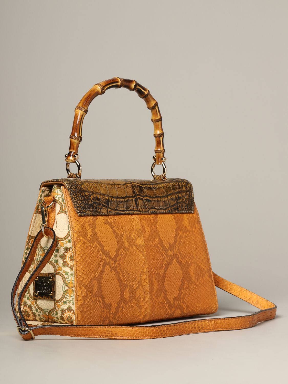 Sac porté main Tari' Rural Design: Sac Grande Arancio Tarì Rural Design en cuir de crocodile orange 2