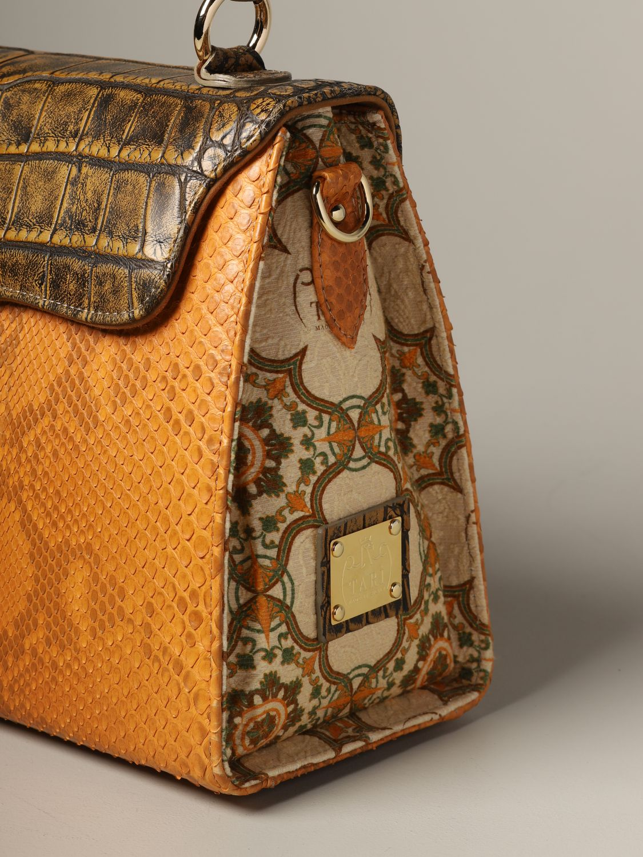 Sac porté main Tari' Rural Design: Sac Grande Arancio Tarì Rural Design en cuir de crocodile orange 3
