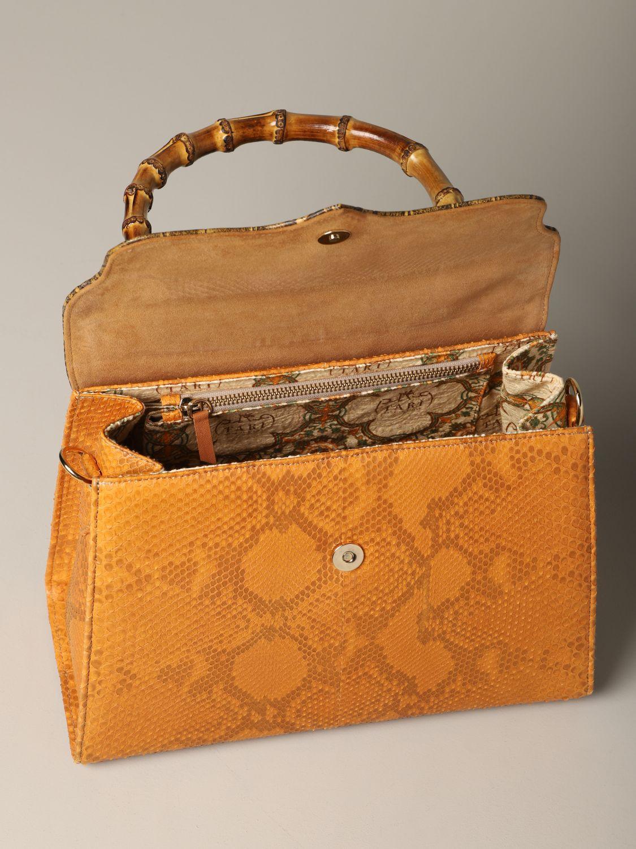 Sac porté main Tari' Rural Design: Sac Grande Arancio Tarì Rural Design en cuir de crocodile orange 4