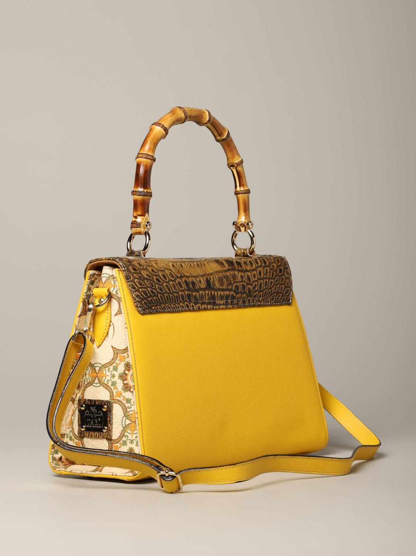 Sac porté main Tari' Rural Design: Sac Grande Giallo Tarì Rural Design en cuir de crocodile jaune 2
