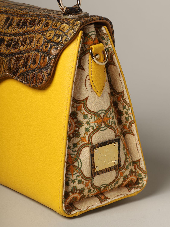 Sac porté main Tari' Rural Design: Sac Grande Giallo Tarì Rural Design en cuir de crocodile jaune 3