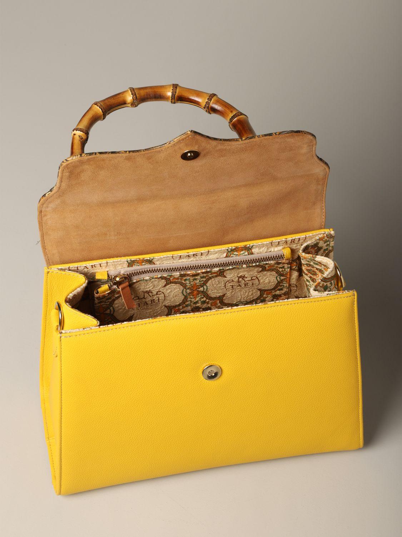Sac porté main Tari' Rural Design: Sac Grande Giallo Tarì Rural Design en cuir de crocodile jaune 4