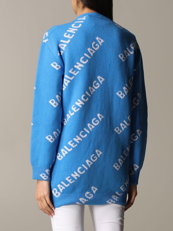 Jumper Balenciaga: Jumper women Balenciaga gnawed blue 3