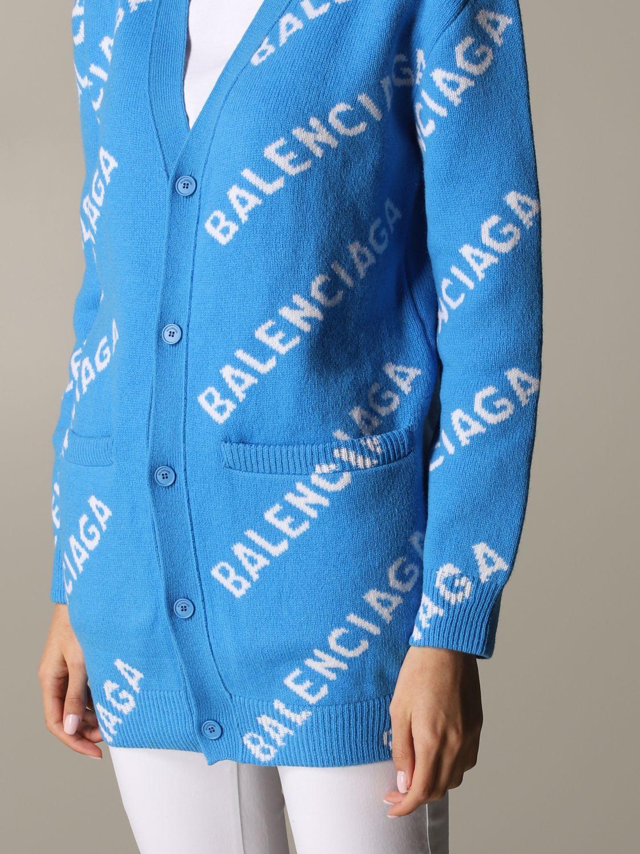 Jumper Balenciaga: Jumper women Balenciaga gnawed blue 5
