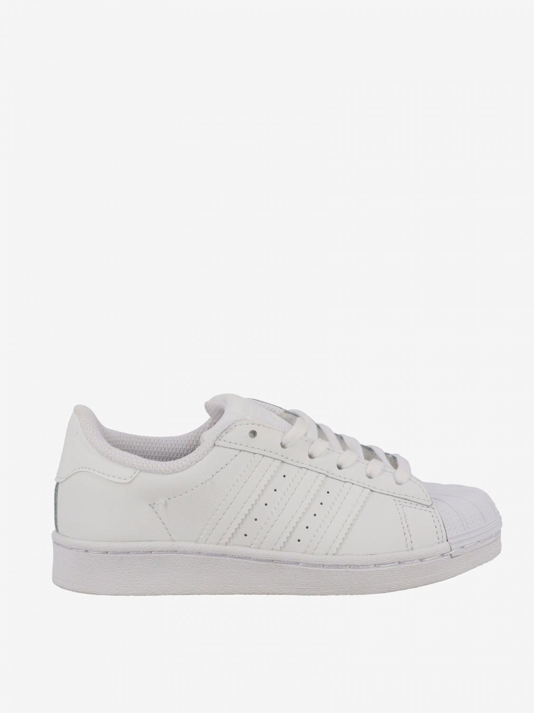 鞋履 Adidas Originals: Adidas Originals Superstar 真皮运动鞋 白色 1