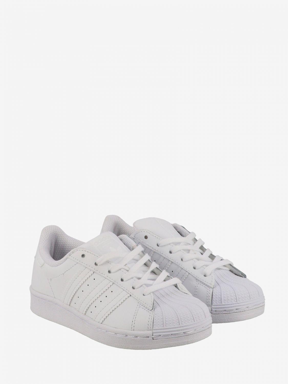 鞋履 Adidas Originals: Adidas Originals Superstar 真皮运动鞋 白色 2