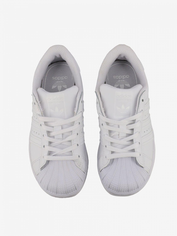 鞋履 Adidas Originals: Adidas Originals Superstar 真皮运动鞋 白色 3