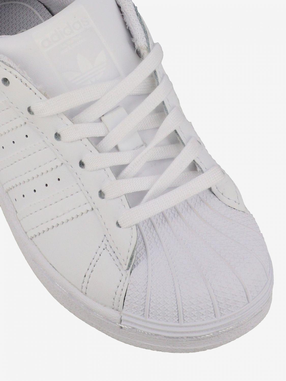 鞋履 Adidas Originals: Adidas Originals Superstar 真皮运动鞋 白色 4