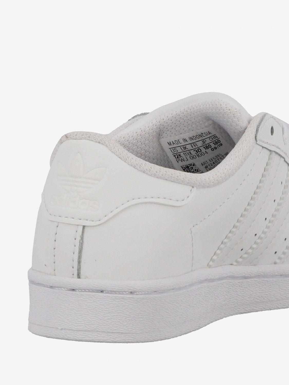 鞋履 Adidas Originals: Adidas Originals Superstar 真皮运动鞋 白色 5