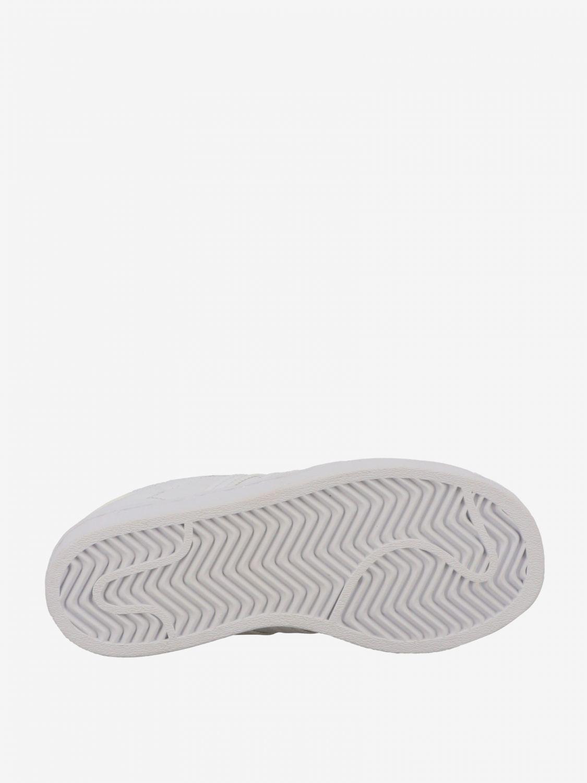 鞋履 Adidas Originals: Adidas Originals Superstar 真皮运动鞋 白色 6