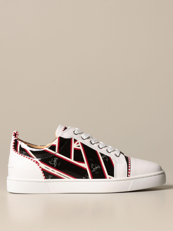Sneakers Christian Louboutin: Louis Junior Christian Louboutin sneakers in leather with logo print black 1