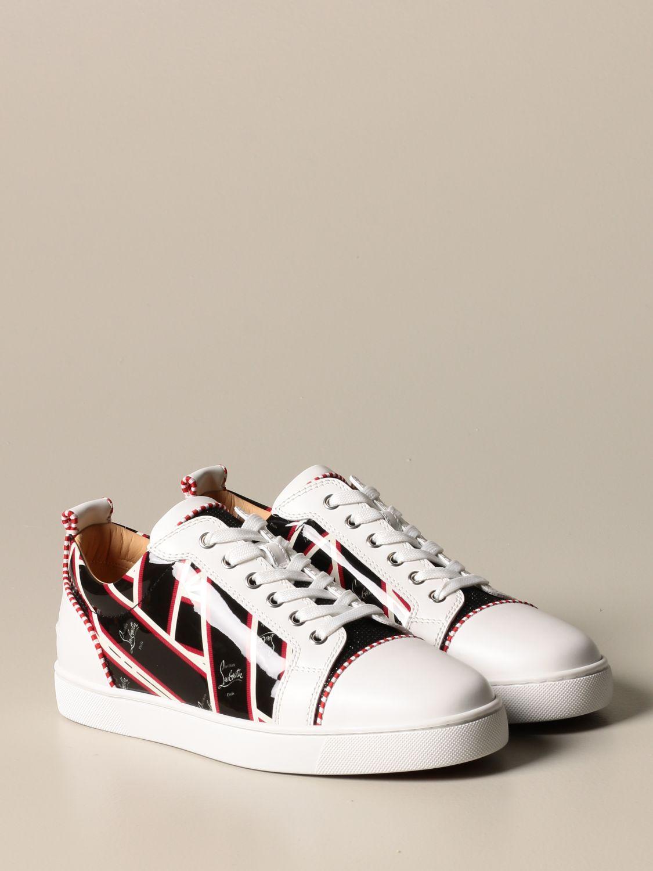 Sneakers Christian Louboutin: Louis Junior Christian Louboutin sneakers in leather with logo print black 2