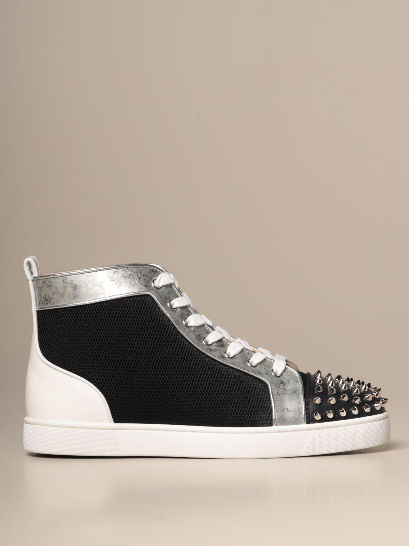 Sneakers Christian Louboutin: Lou spikes Christian Louboutin sneakers in leather and mesh with studs black 1