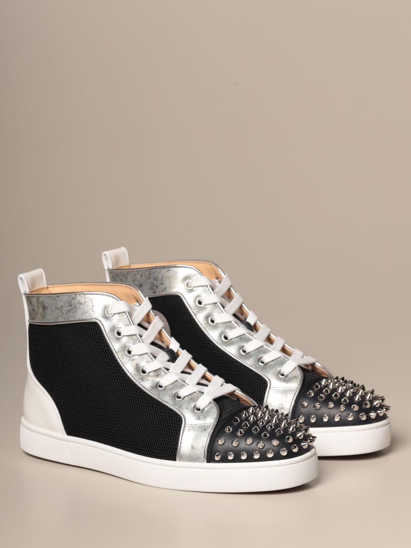 Sneakers Christian Louboutin: Lou spikes Christian Louboutin sneakers in leather and mesh with studs black 2