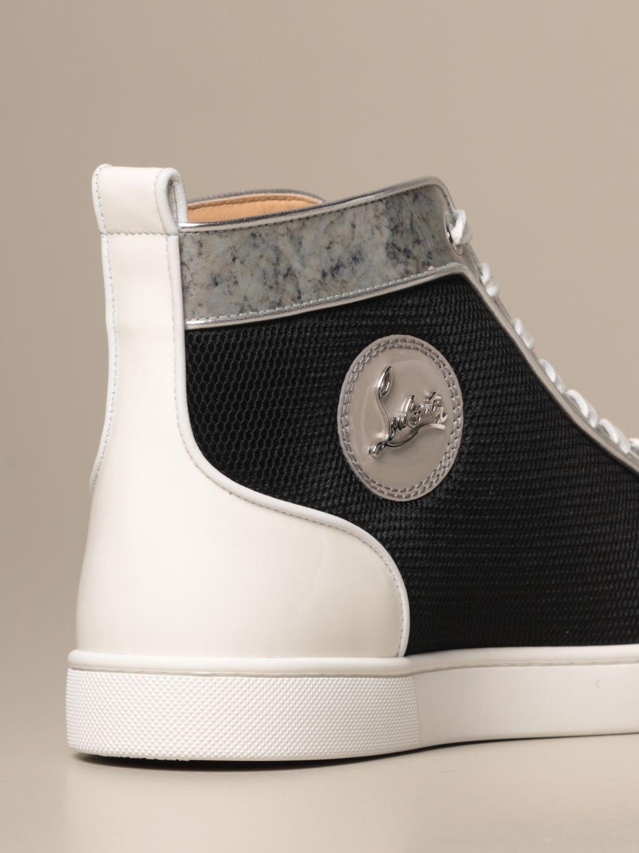 Sneakers Christian Louboutin: Lou spikes Christian Louboutin sneakers in leather and mesh with studs black 3