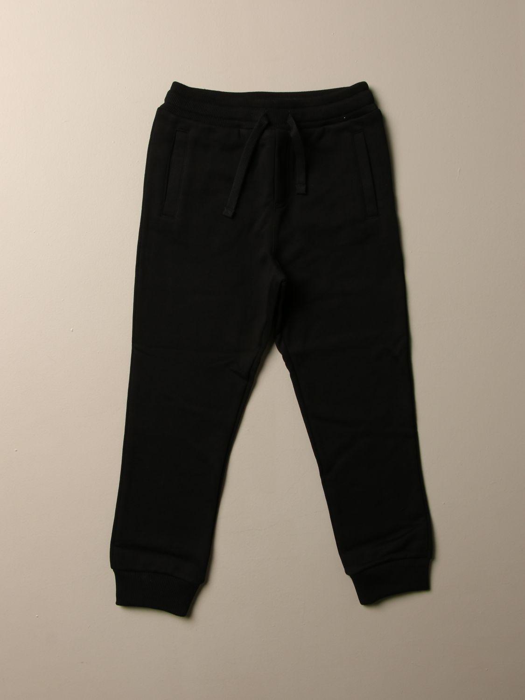 Pantalone Dolce & Gabbana: Pantalone jogging Dolce & Gabbana con logo blue 1