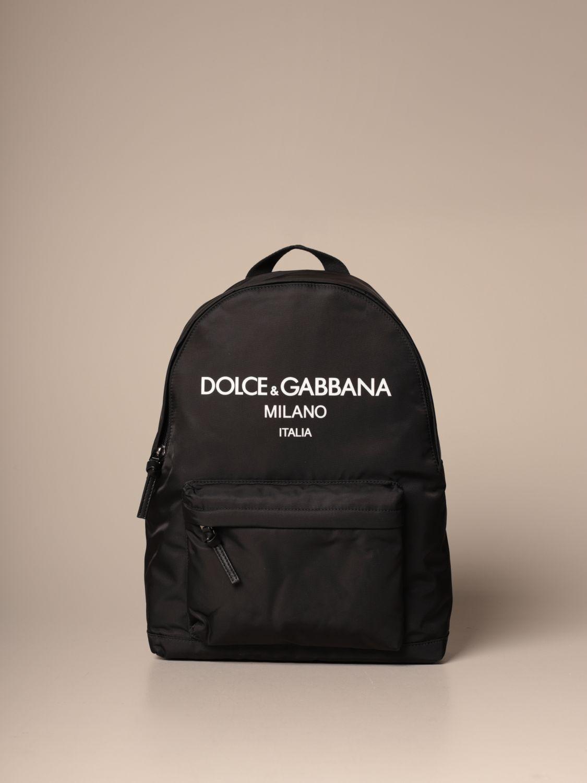 Borsa Dolce & Gabbana: Zaino Dolce & Gabbana in nylon con logo nero 1