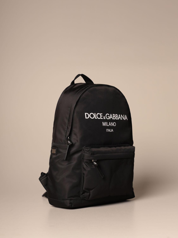 Borsa Dolce & Gabbana: Zaino Dolce & Gabbana in nylon con logo nero 3