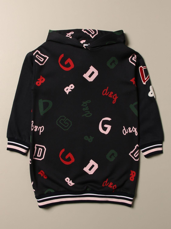 Abito Dolce & Gabbana: Felpa Dolce & Gabbana con logo all over blue 1