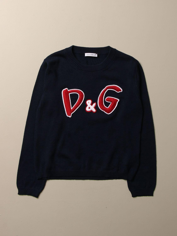 Sweater Dolce & Gabbana: Dolce & Gabbana crewneck sweatshirt with D&G logo blue 1