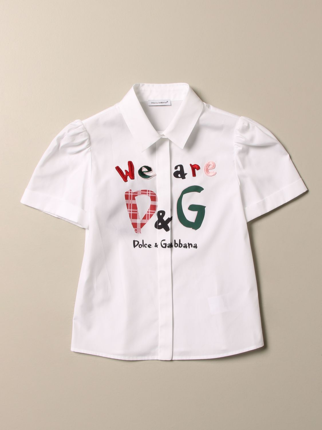 Camicia Dolce & Gabbana: Camicia Dolce & Gabbana con logo we are D&G bianco 1