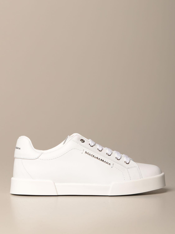 Scarpe Dolce & Gabbana: Sneakers Dolce & Gabbana in pelle di vitello bianco 1