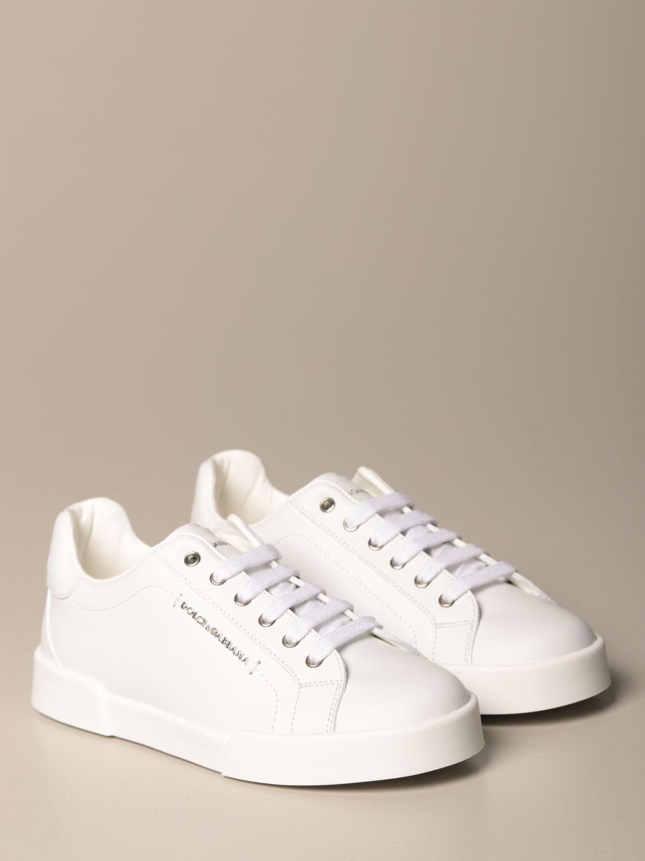Scarpe Dolce & Gabbana: Sneakers Dolce & Gabbana in pelle di vitello bianco 2