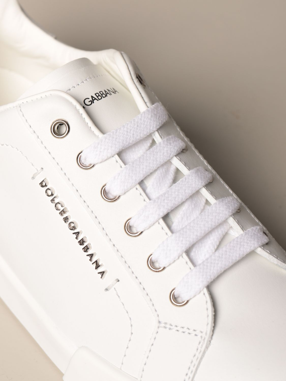 Scarpe Dolce & Gabbana: Sneakers Dolce & Gabbana in pelle di vitello bianco 4