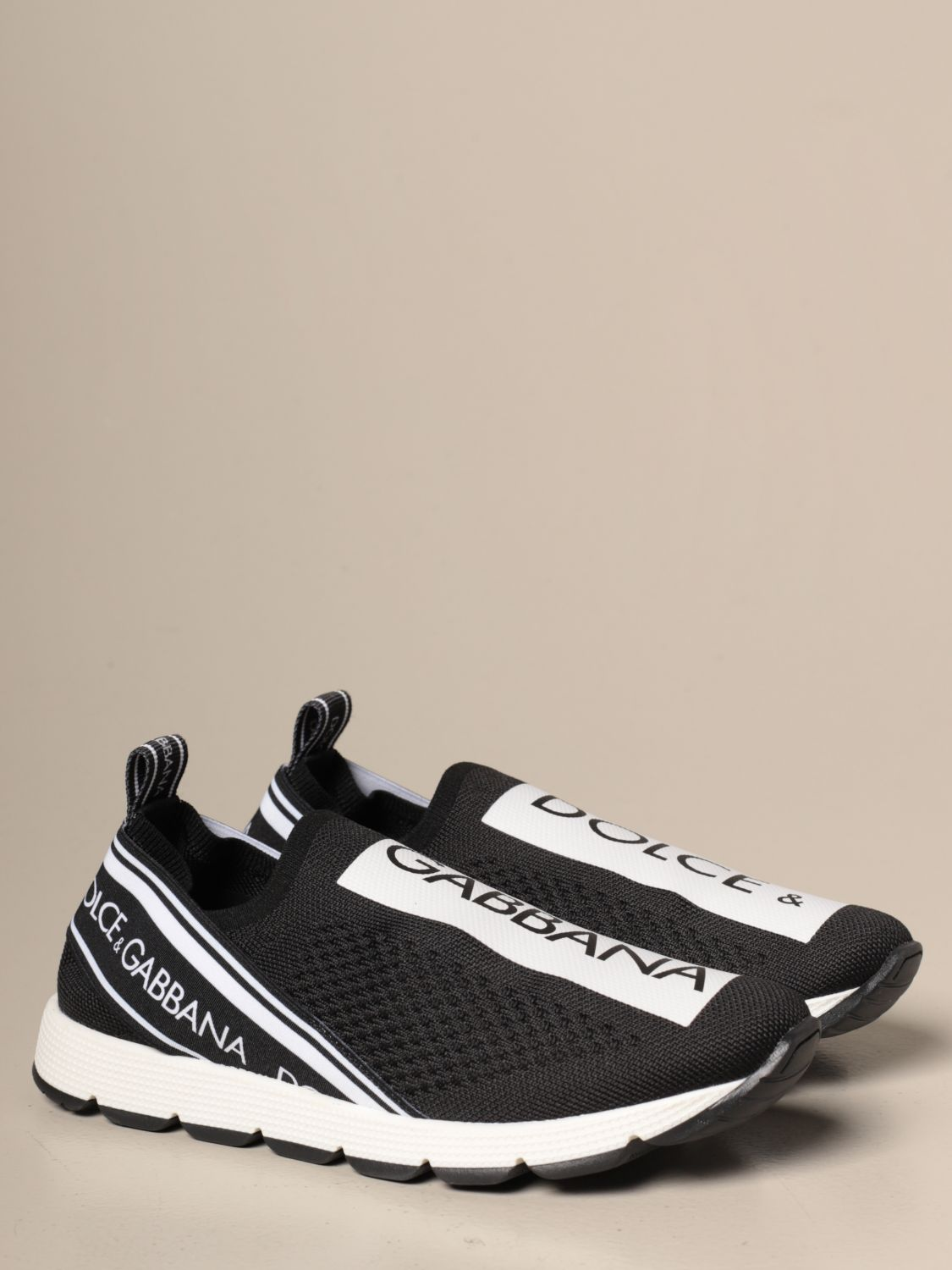 Shoes Dolce & Gabbana: Dolce & Gabbana slip on sneakers with logo black 2