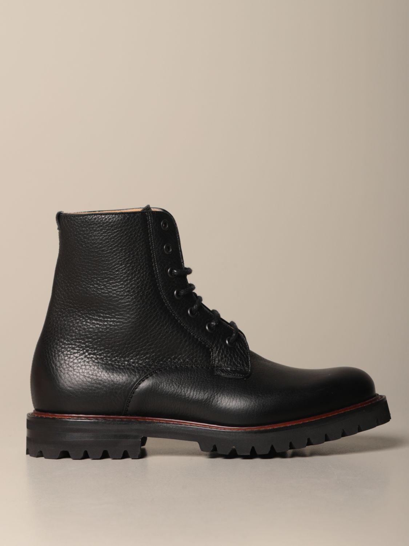 Chukka boots Church's: Church's Coalport amphibian in hammered leather black 1