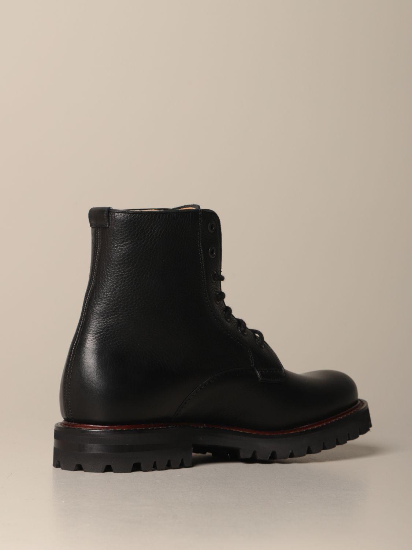 Chukka boots Church's: Church's Coalport amphibian in hammered leather black 3