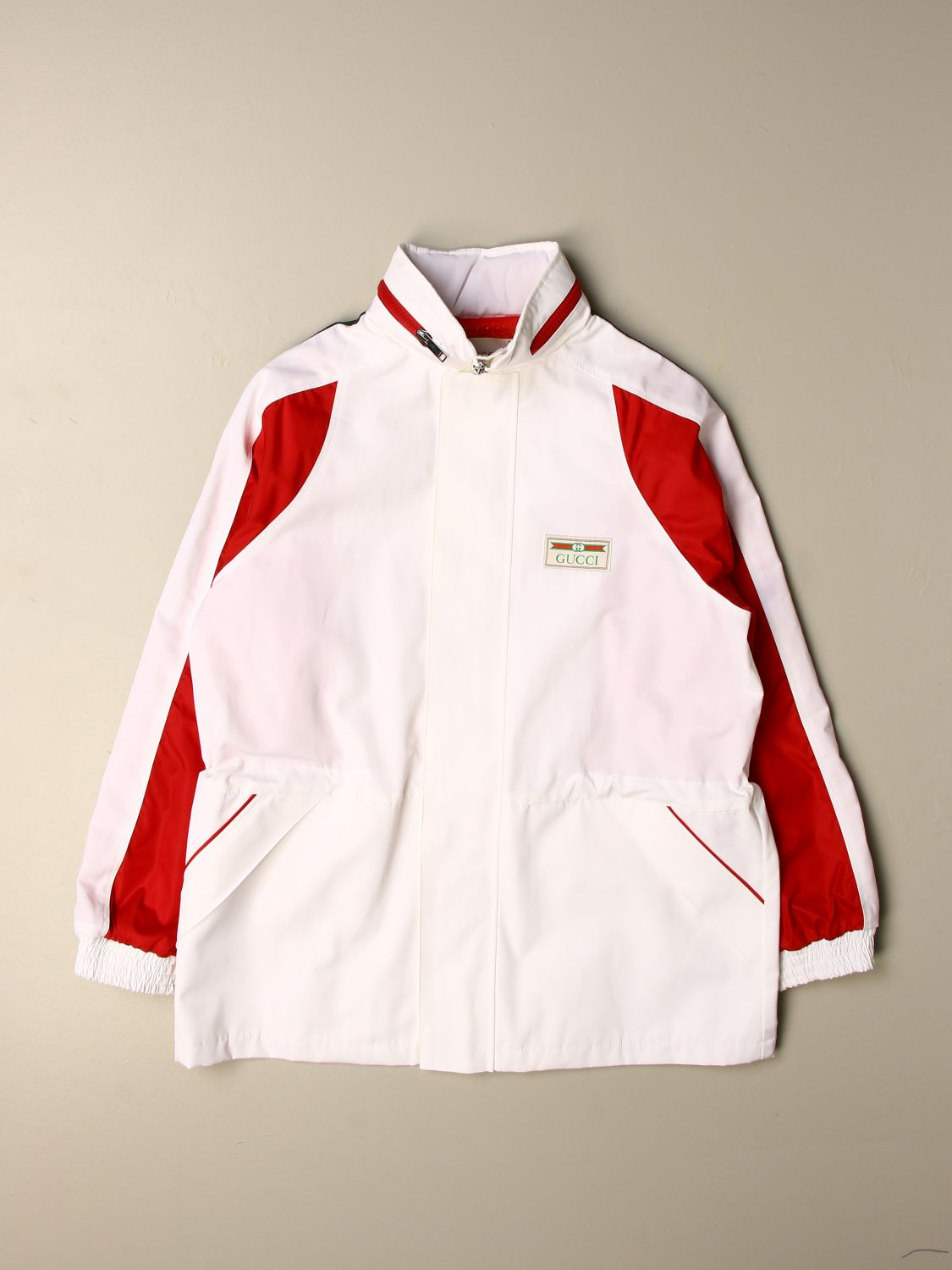 Jacket Gucci: Gucci nylon jacket with hood white 1