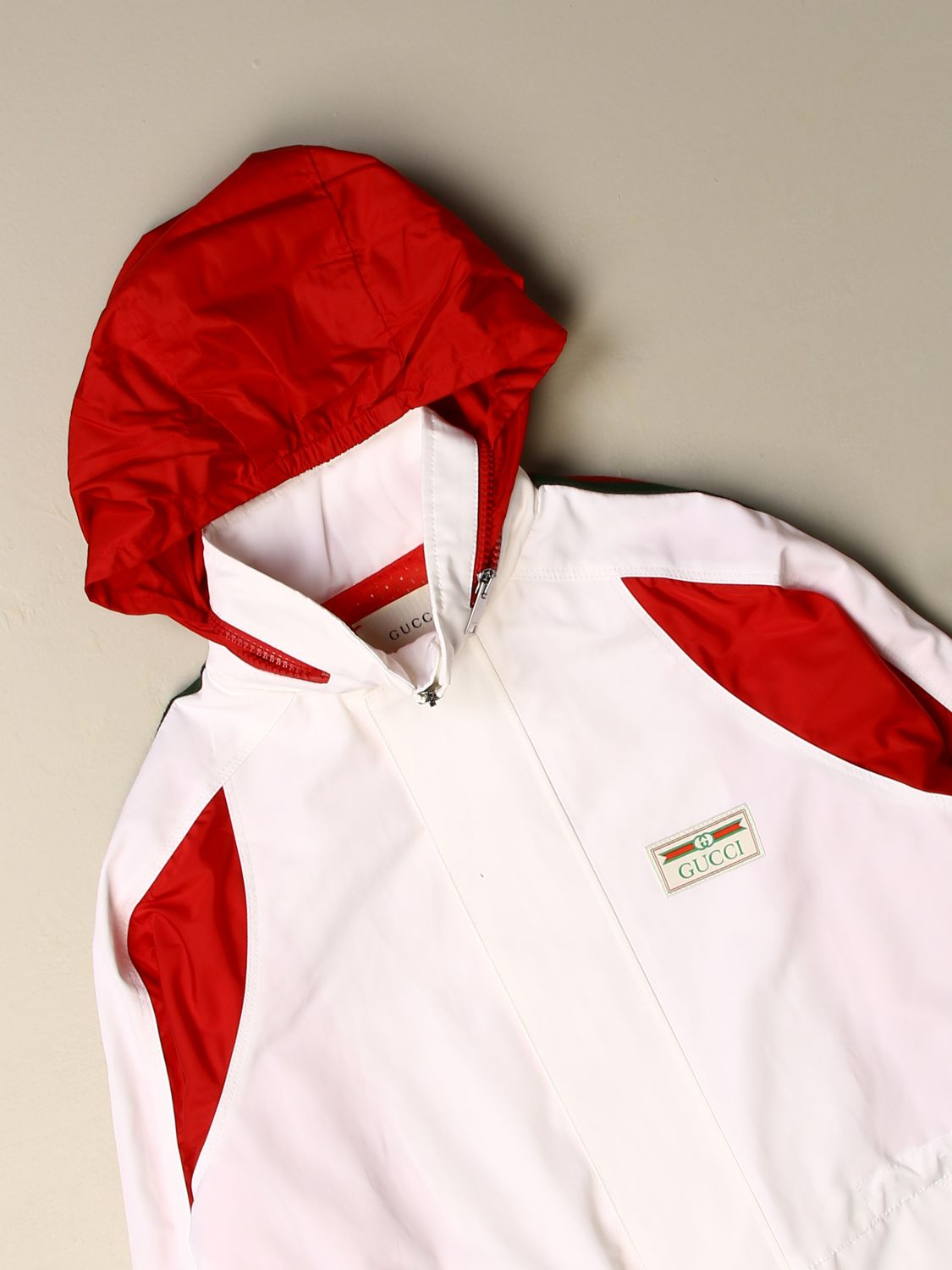 Jacket Gucci: Gucci nylon jacket with hood white 3