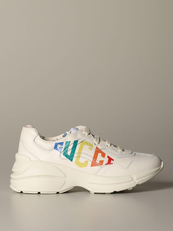 Rhyton Gucci game rainbow leather