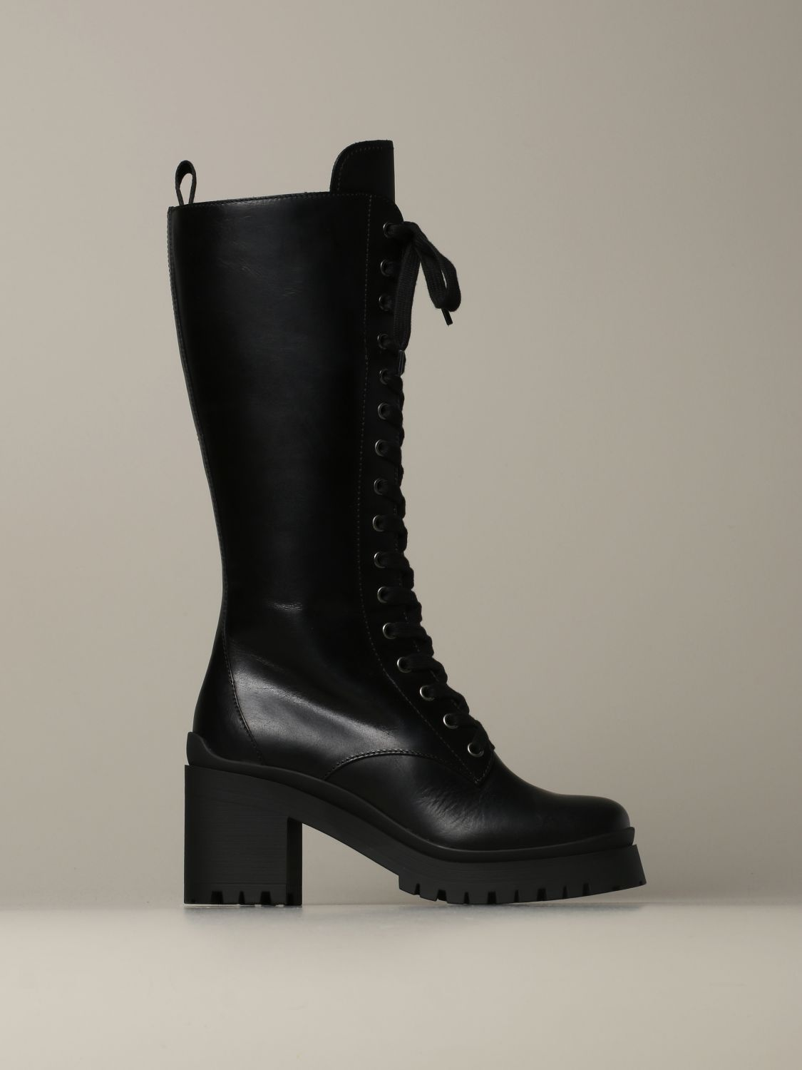 Combact Miu Miu lace-up boot in leather
