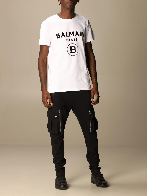 Футболка Balmain: Футболка Мужское Balmain белый 2
