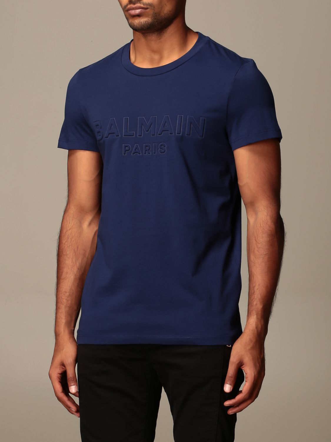 T-shirt Balmain: T-shirt men Balmain blue 4