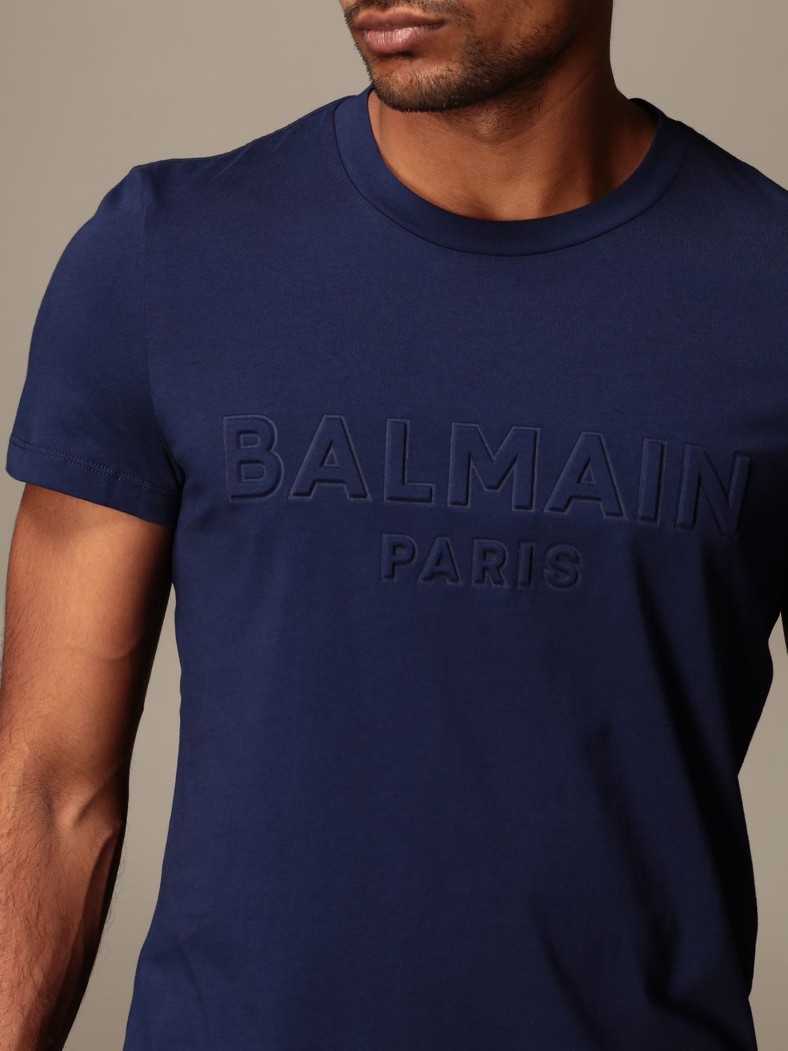T-shirt Balmain: T-shirt men Balmain blue 5