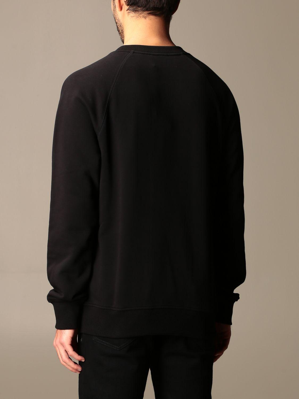 Sweatshirt Balmain: Balmain cotton sweatshirt with embossed logo black 2