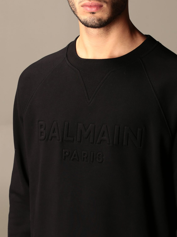 Sweatshirt Balmain: Balmain cotton sweatshirt with embossed logo black 3