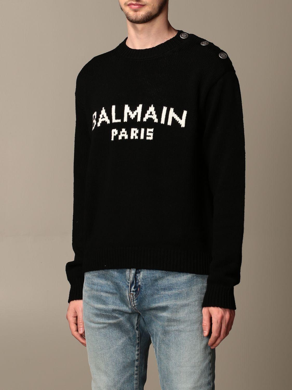 Pullover Balmain: Pullover herren Balmain schwarz 3