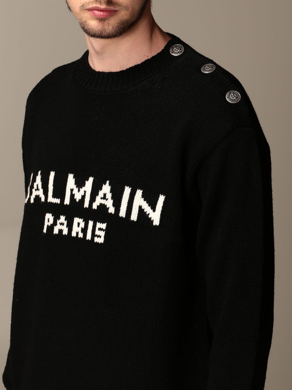 Свитер Balmain: Свитер Мужское Balmain черный 4