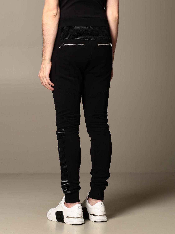 Pants Balmain: Balmain cotton jogging trousers black 2