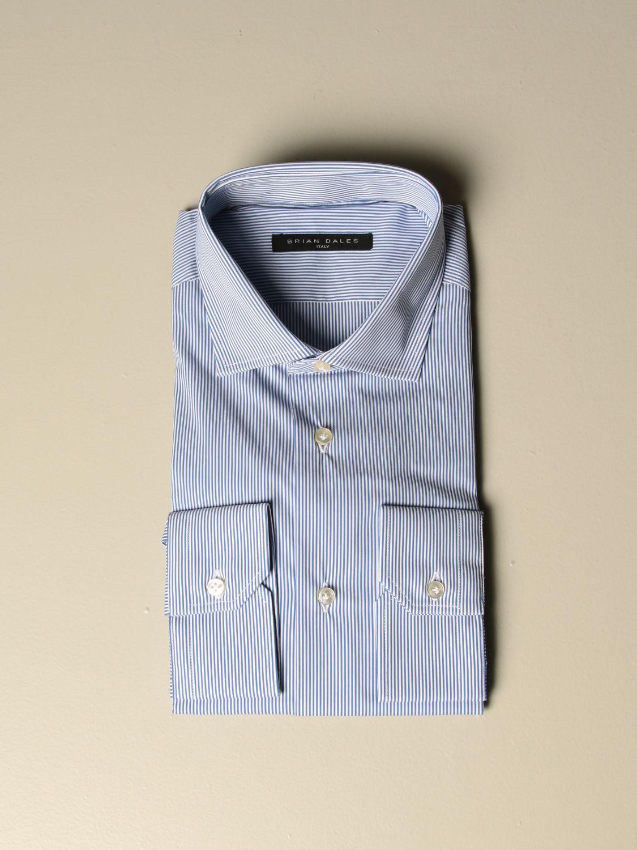 Shirt Brian Dales Camicie: Shirt men Brian Dales Camicie gnawed blue 1