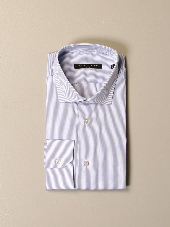 Camicia Brian Dales Camicie: Camicia Brian Dales Camicie in cotone stretch bacchettato celeste 1