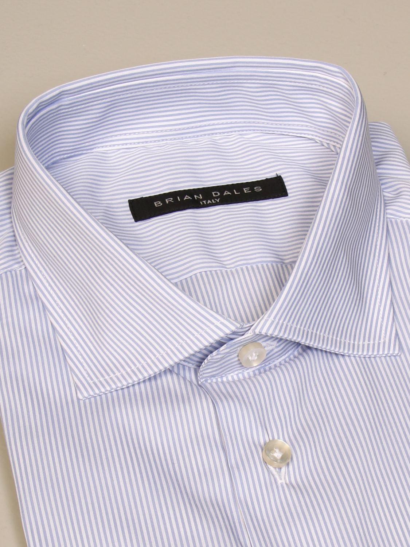 Camicia Brian Dales Camicie: Camicia Brian Dales Camicie in cotone stretch bacchettato celeste 2